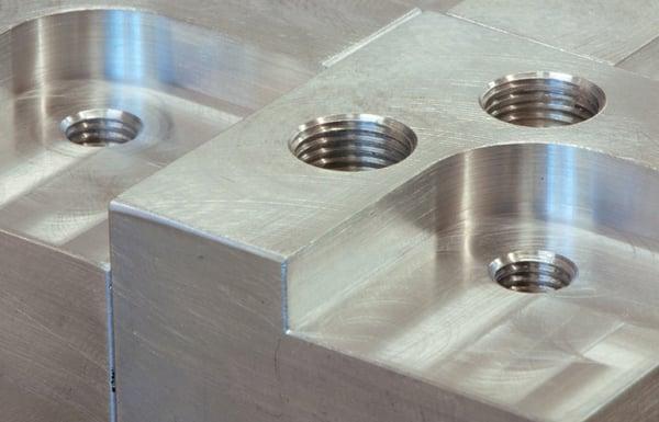 Metal-Block-With-Engineered-Screw-Holes